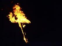 καίγοντας σταυρός Στοκ Φωτογραφία