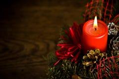 καίγοντας στεφάνι Χριστ&omicron Στοκ Εικόνα