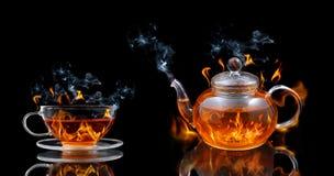 Καίγοντας τσάι Στοκ Φωτογραφία