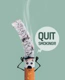 Καίγοντας τσιγάρο και αστείος χαρακτήρας Στοκ φωτογραφία με δικαίωμα ελεύθερης χρήσης