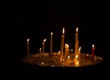 Καίγοντας υπόβαθρο κεριών Στοκ εικόνα με δικαίωμα ελεύθερης χρήσης