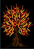 καίγοντας φλεμένος δέντρ&om Στοκ φωτογραφίες με δικαίωμα ελεύθερης χρήσης