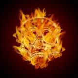 καίγοντας φλεμένος κρανί& απεικόνιση αποθεμάτων