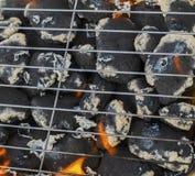 Καίγοντας φλόγες και σχάρα Στοκ Εικόνες