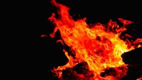 καίγοντας φλόγες μιας φωτιάς Στοκ Εικόνες