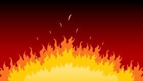 καίγοντας φλόγες πυρκα&ga Στοκ Εικόνα