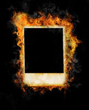 καίγοντας φωτογραφία πλ&al Στοκ φωτογραφία με δικαίωμα ελεύθερης χρήσης