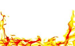 Καίγοντας φλόγα πυρκαγιάς στο άσπρο υπόβαθρο Στοκ Εικόνες