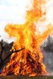 καίγοντας φλόγα Στοκ φωτογραφία με δικαίωμα ελεύθερης χρήσης
