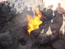 καίγοντας φλόγες Στοκ Φωτογραφία