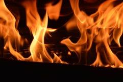 καίγοντας φλόγες Στοκ εικόνα με δικαίωμα ελεύθερης χρήσης