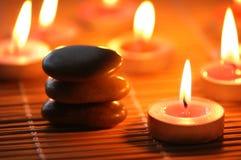 καίγοντας χαλίκια κεριών Στοκ φωτογραφία με δικαίωμα ελεύθερης χρήσης