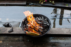 Καίγοντας χρήματα φαντασμάτων Στοκ Εικόνα