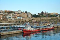 Καβάλα, Ελλάδα Η παραδοσιακή ελληνική αλιεία Στοκ Φωτογραφία
