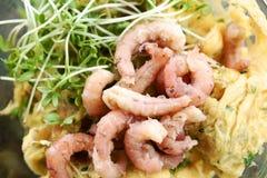 Καβούρια και omelett Στοκ φωτογραφία με δικαίωμα ελεύθερης χρήσης