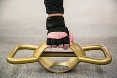 Καβούρι γυναικών Fytness ΓΥΜΝΑΣΤΙΚΗΣ workout στοκ εικόνα με δικαίωμα ελεύθερης χρήσης