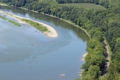Καγιάκ στον ποταμό στοκ φωτογραφία με δικαίωμα ελεύθερης χρήσης