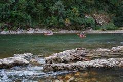 Καγιάκ στον ποταμό Ardeche, Γαλλία Στοκ φωτογραφία με δικαίωμα ελεύθερης χρήσης