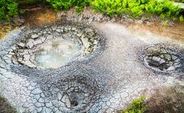 Καζάνι λάσπης στη θρυλική κοιλάδα Geysers Kamchatka, Ρωσία Στοκ εικόνα με δικαίωμα ελεύθερης χρήσης