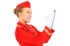 Καθήκοντα αεροσυνοδών Στοκ φωτογραφία με δικαίωμα ελεύθερης χρήσης