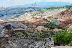 Καθίζηση εδάφους στο ορυχείο λιγνίτη Amyntaio στοκ φωτογραφία με δικαίωμα ελεύθερης χρήσης