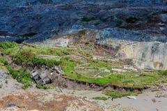 Καθίζηση εδάφους στο ορυχείο λιγνίτη Amyntaio στοκ φωτογραφίες με δικαίωμα ελεύθερης χρήσης