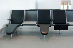 καθίσματα αερολιμένων Στοκ Φωτογραφίες