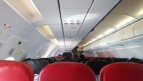 καθίσματα αεροπλάνων κατά την μπροστινή άποψη Στοκ εικόνα με δικαίωμα ελεύθερης χρήσης