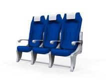 Καθίσματα αεροπλάνων που απομονώνονται Στοκ Εικόνες