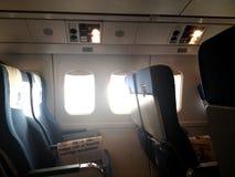 Καθίσματα αεροπλάνων στοκ φωτογραφία