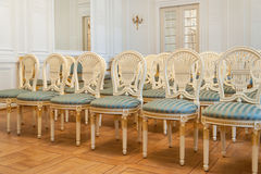 Καθίσματα αιθουσών συναυλιών παλατιών Στοκ εικόνες με δικαίωμα ελεύθερης χρήσης