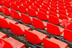 Καθίσματα γηπέδου ποδοσφαίρου Καθίσματα σταδίων ποδοσφαίρου Στοκ εικόνα με δικαίωμα ελεύθερης χρήσης