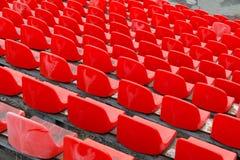 Καθίσματα γηπέδου ποδοσφαίρου Καθίσματα σταδίων ποδοσφαίρου Στοκ φωτογραφία με δικαίωμα ελεύθερης χρήσης