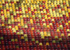 Καθίσματα γηπέδου ποδοσφαίρου Στοκ Εικόνες