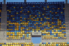 Καθίσματα γηπέδου ποδοσφαίρου Στοκ φωτογραφία με δικαίωμα ελεύθερης χρήσης