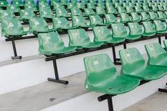 Καθίσματα γηπέδου ποδοσφαίρου Στοκ εικόνες με δικαίωμα ελεύθερης χρήσης