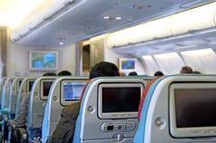 καθίσματα επιβατών αεροπλάνων Στοκ Φωτογραφία