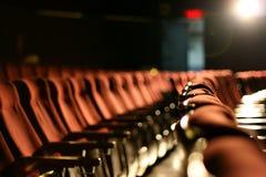 καθίσματα κινηματογράφων στοκ εικόνα