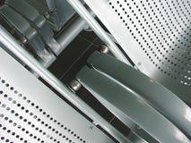 καθίσματα μετάλλων αερολιμένων Στοκ Εικόνες