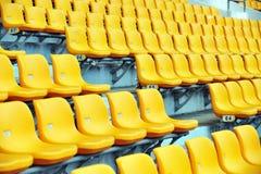 καθίσματα ποδοσφαίρου &kap Στοκ Φωτογραφία