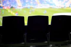 Καθίσματα σε ένα στάδιο ποδοσφαίρου Στοκ εικόνα με δικαίωμα ελεύθερης χρήσης