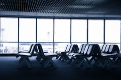 Καθίσματα στον αερολιμένα Στοκ φωτογραφίες με δικαίωμα ελεύθερης χρήσης