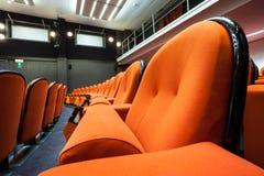 Καθίσματα στον κινηματογράφο στοκ φωτογραφία με δικαίωμα ελεύθερης χρήσης