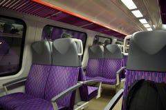 Καθίσματα στο βαγόνι εμπορευμάτων στο τραίνο Στοκ φωτογραφία με δικαίωμα ελεύθερης χρήσης