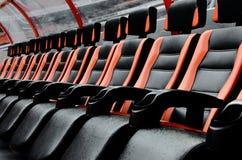 Καθίσματα στο γήπεδο ποδοσφαίρου Στοκ Φωτογραφίες