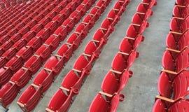 Καθίσματα στο στάδιο ποδοσφαίρου Στοκ Φωτογραφία