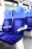 Καθίσματα στο τραίνο Στοκ Φωτογραφία