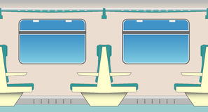 καθίσματα τραίνων Στοκ Εικόνες