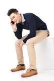 Καθίστε και πάρτε μια κλήση Στοκ Εικόνα