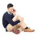 Καθίστε και πάρτε μια κλήση Στοκ Φωτογραφίες
